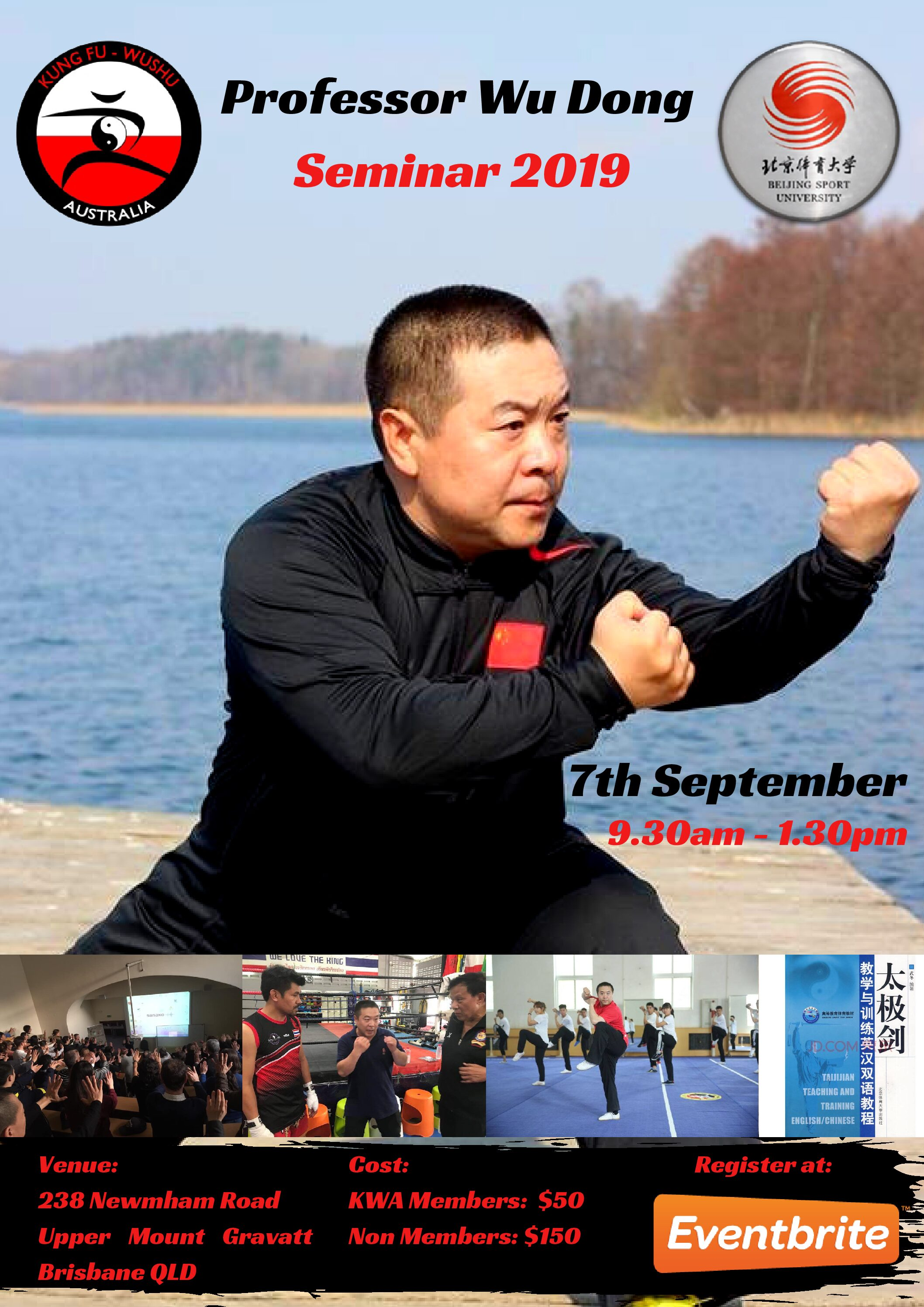 Seminar With Professor Wu Dong – Saturday 07th Sept 2019